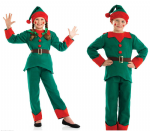 ELF SANTAS HELPER BOYS GIRLS CHRISTMAS FANCY DRESS COSTUME